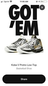 "Nike Zoom Kobe 5 V Protro ""Big Stage"" Men's Size 14 Parade Gold BRAND NEW"