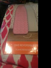 DABNEY LEE REVERSIBLE IRONING BOARD COVER PINK WHITE GRAY WHITE NIP