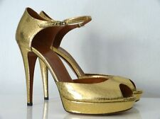 GUCCI PLATEAU-PUMPS PEEP TOES HIGH HEELS GOLD GR:40,5 NEU/NEW !!!