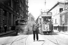Xpl-42 Street With Tram To Bubbling Well, Shanghai, China. Photo