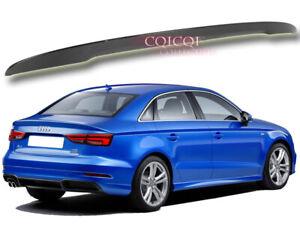 Carbon Fiber Audi 2013-2019 A3 S3 typ 8V Sedan trunk spoiler TFSI TDI ◎