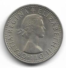 Britain Queen Elizabeth II Six Pence Coin - 1961