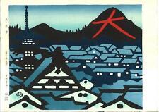 Minagawa Taizo -Daimonji, Kyoto, Japan - Japanese Woodblock Print