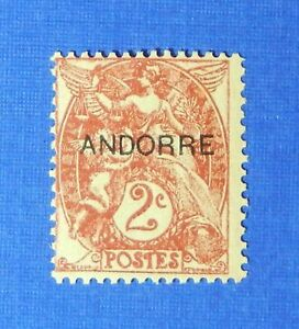 1931 ANDORRA FRENCH 2c SCOTT# 2 MICHEL # 3 UNUSED                        CS26065