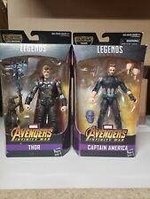 Marvel Legends THOR and CAPTAIN AMERICA Avengers Infinity War Cull Obsidian BAF.