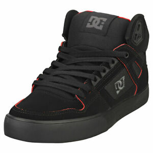 DC Shoes Pure High-top Wc Homme Black Red Baskets Decontractee