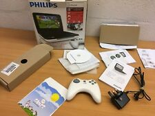"""PHILIPS PD7010 7"""" PORTABLE DVD PLAYER BOX GAMEPAD CD CHARGER"""