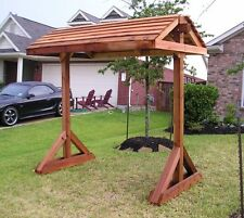 Free Standing Porch Swing Stand With Roof - Woodworking Plans