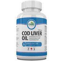 Cod Liver Oil 1000mg High Strength Softgel Capsules Free P&P