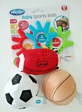 Playgro Baby Sport Balls Car Seat Toys or Stroller Rattles Ages 0+  Brand New