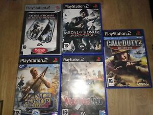 Lot 5 Jeux Playstation 2 Medal Of Honor Call Of Duty