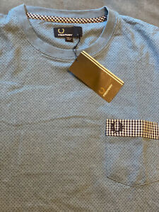 BRAND NEW FRED PERRY TSHIRT L SIZE POCKET DESIGN LIMITED RRP130$