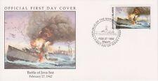 W34 1-1 Isole Marshall FDC COVER 1992 Battaglia di Java mare 1942