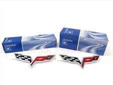 2005-2008 Chevrolet Corvette Front & Rear Bumper Cover Emblem Badge Set OEM NEW