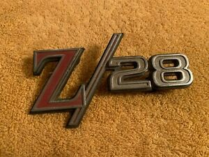 Vintage Original 1969 Chevrolet Camaro Z/28 Rear Tail Panel Emblem # 8745869