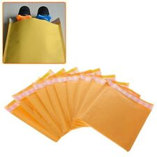 10 Pcs Yellow Kraft Bubble Mailers Padded Mailing Bags Paper Shipping Envelopes