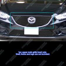 Fits 2014-2016 Mazda 6 Upper Black Main Upper Billet Grille Inserts