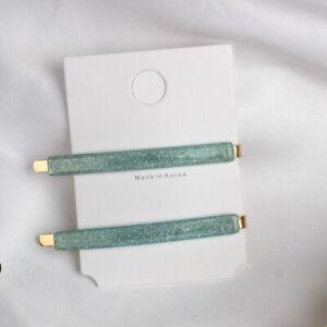 Womens Acrylic Hair Clip Barrette Stick Hairpin Bobby Pin Girls Hair Accessories