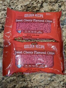 **2 BAGS** Gurley's Golden Recipe Cherry Flavored Sweet Cherry Baking Chips 10oz