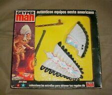Vintage 1975 GI joe Geyper Man INDIAN CHIEF Jefe Indio window box outfit MIB