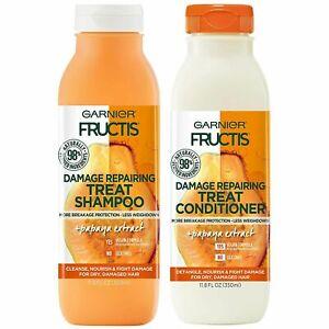 2 Garnier Fructis Damage Repairing Treat Shampoo-Conditioner, 98 Percent Natural