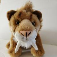 Wild Republic Saber Tooth Tiger Stuffed Animal Plush K & M International 2009