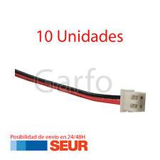 10X Conector 2 Pines Hembra con Cable