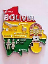 New Fridge Magnet Metal Bolivia Map Tourist Travel Souvenir Gift MV400