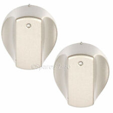 2 x Silver Control Knob Switch for HOTPOINT Hot-Ari ix Hob Oven Cooker Knobs