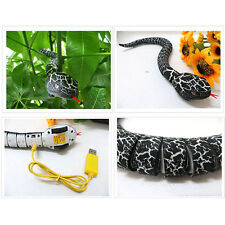 """RC Snake Toy 16"""" Long Rechargeable Infrared Remote Control Realistic Black Gift"""