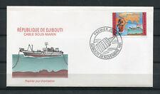 Djibouti 1991 Mi. 557 Cable sous-marin bateau mer FDC Premier Jour