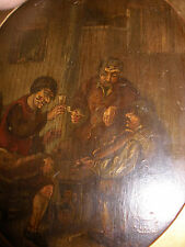 Antique Danish school 18/19th Boors in a Tavern scene painting mystery artist
