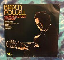 Baden Powell  LP  Gravado Ao Vivo Em Paris  LIVE IN PARIS  Barclay IMPORT Brazil