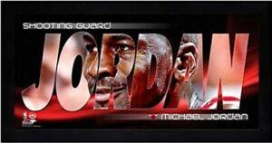 "Michael Jordan Chicago Bulls Mini Photo (Size: 7"" x 13"") Framed"