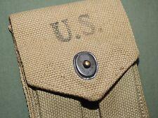 US Army USMC Marine WW2 COLT 1911 .45 PISTOL KHAKI AMMO POUCH EXC 1942 Vtg GI