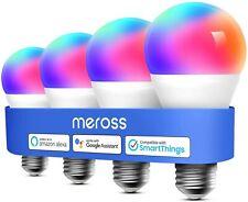 4 Pack meross Smart WiFi Bulbs w Alexa, Google Home Multicolor 2700K-6500