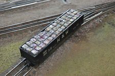 Baled Scrap Load, colored and weathered, for S Scale Gondolas