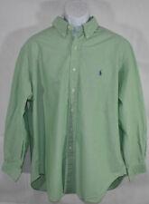 Mens RALPH LAUREN POLO CLASSIC FIT Sz 17.5 XL SOLID LIME GREEN DRESS SHIRT 34/35