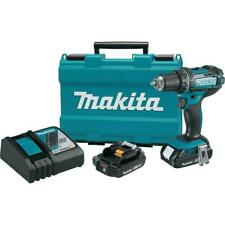 Makita XFD10R 18-Volt Compact Lithium-Ion Cordless Drill/Driver Kit, 1/2-In., 2