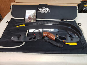 "Hoyt Satori Recurve Bow 19""Black Riser Left Hand 60# Medium Black Limbs AMO 62"""