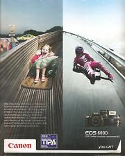 PUBLICITE ADVERTISING 2011 Appareil Photo CANON Eos 600D