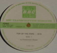 GENESIS UNDERTONES ELO ULTRAVOX ANEKA CLIFF ~BBC TOP POPS TRANS DISC 876 LP 1981
