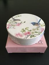 """Australian Bird Series """"Blue Wren"""" Set of 4 Ceramic Coasters - Boxed"""