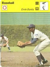 ERNIE BANKS 1977 Sportscaster Card #12-07 CHICAGO CUBS