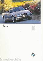 BMW 3er Cabrio Prospekt 1996 brochure 6 11 03 21 10 2 Personenwagen catalog