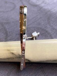 BUCKLEY LONDON ROSE/WHITE GOLD CRYSTAL BRACELET TWIST