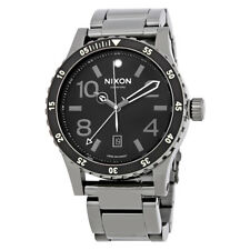 Nixon Diplomat SS Black Dial Mens Gunmetal Steel Watch A2771885