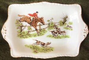 Fox Hunt Hunting Porcelain Serving Platter Tuscan