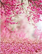 PINK PETAL CHERRY FLOWER BACKDROP BACKGROUND VINYL PHOTO PROP 5X7FT 150x220CM
