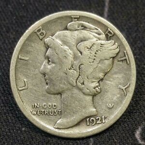 1921 D Mercury Head Dime